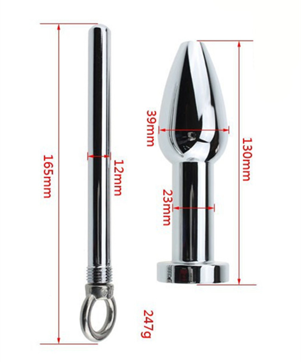 Big Metal Anal Bead Butt Plug Anus Pleasure In Adult Games,Fun Couples Toys Sex Products For Women And Men Gay 140g stainless steel anal hooks metal butt plug with 2 balls gay sex toys adult products for men and women massage
