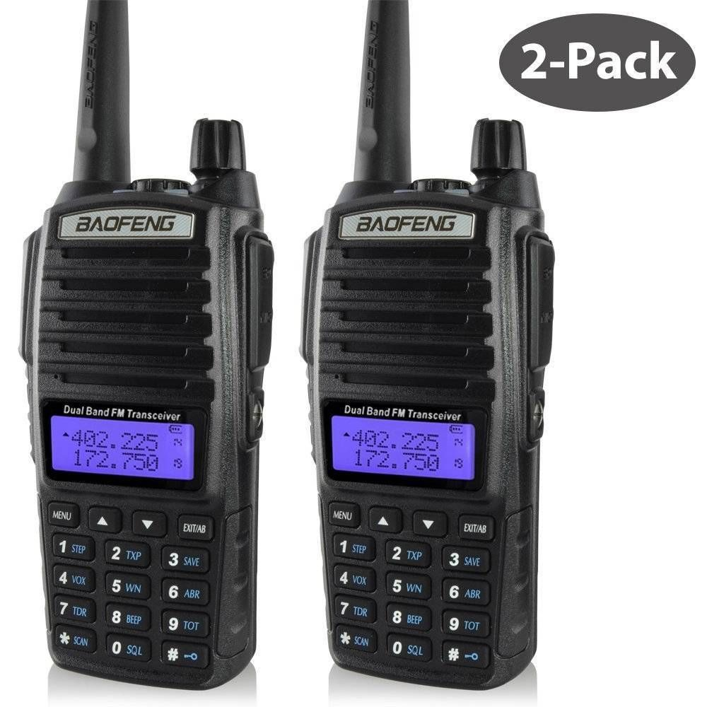 2-Pack X Baofeng UV-82 136-174 & 400-520MHz Dual Band Dual Display Free Support