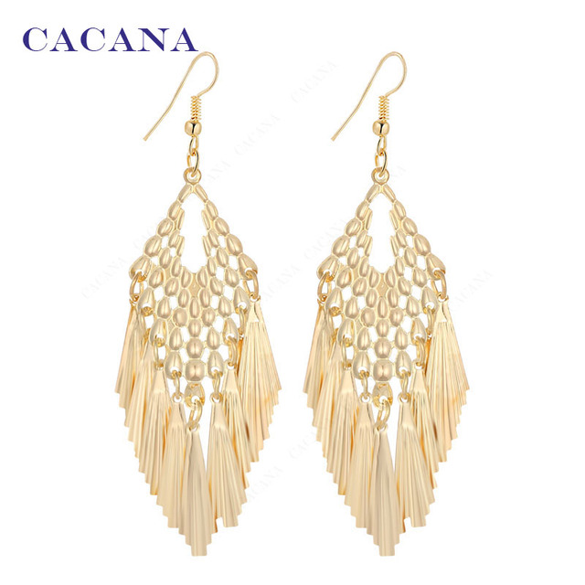 CACANA Dangle Long Earrings For Women Tassel Skirt Style Top Quality Bijouterie