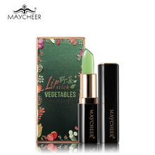 MAYCHEER Wild Vegetables Temperature Moist Lipstick Long Lasting Waterproof Lip Stick Jelly Balm Smooth Nude Natural Nutrient
