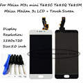 Black/White For Meizu M3s mini Y685C Y685Q Y685M Y685H / Meizu Meilan 3s LCD Display Touch Screen Digitizer Assembly Free Tools