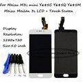 Black/white para meizu m3s mini y685c y685q y685m y685h/meizu meilan 3 s display lcd touch screen digitador assembléia grátis ferramentas