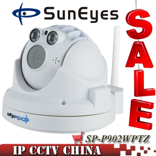 SunEyes SP P902WPTZ ONVIF Wireless PTZ Dome IP Camera 960P HD with Low Lux Two Way