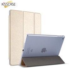 KISSCASE Plegable Del Cuero Del Soporte Para el ipad 2/3/4 Del Tirón de Lujo Cubierta de la caja Para el ipad 2 del iPad 3 iPad 4 Piel Protectora Shell caso