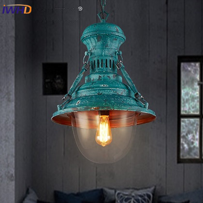 IWHD Nordic Style Iron Pendant Lamp Vintage Industrial Lighting Fixtures Loft Retro Hanging Lights Bar Bedroom Restaurant Light american retro pendant lights luminaire lamp iron industrial vintage led pendant lighting fixtures bar loft restaurant e27 black