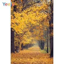 Yeele Autumn Photocall Fallen Leaves Maple Forest Photography Backdrops Personalized Photographic Backgrounds For Photo Studio