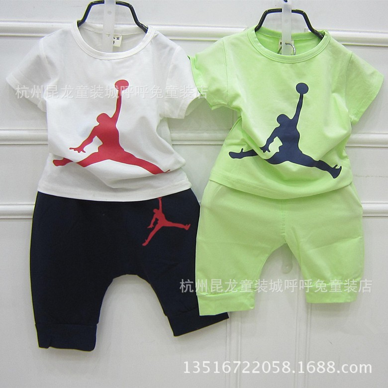 434f0e84df1db7 New summer children boys girls brand clothing tracksuits kids fashon jordan  number 23 t shirt+Haroun pants 2 sets children suits-in Clothing Sets from  ...