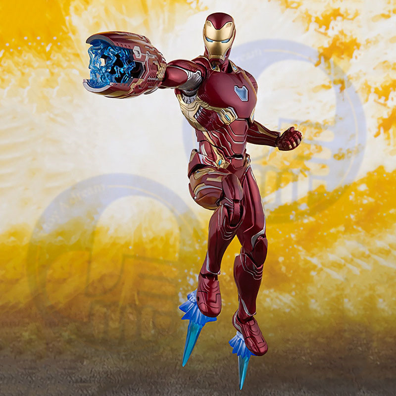 2019 Thanos Iron Man MK50 Action Figure Cosmic Cube Tesseract Marvels Avengers 3 Infinity War 6 quot Toys Doll in Action amp Toy Figures from Toys amp Hobbies