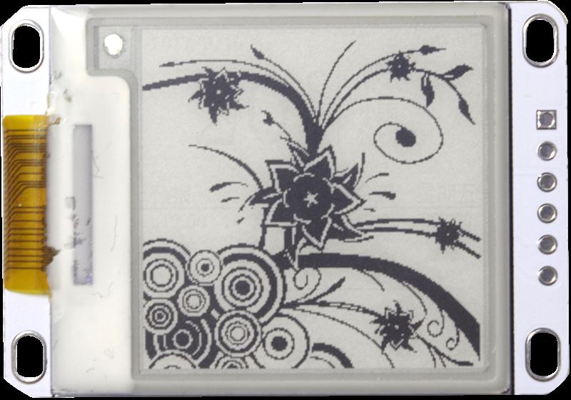 Módulo de papel electrónico de 200 pulgadas 200*1,54 pantalla de visualización de tinta electrónica SPI gran ángulo de visión compatible con la actualización parcial