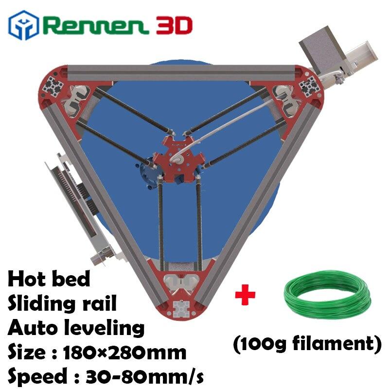 3 D Cheap Delta 3D Printer M Auto Level Kossel Mini Reprap Prusa rostock 3D-Printer Machine Kit With Hot Bed Injection