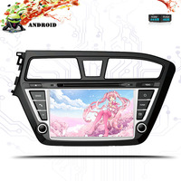 Android 9.0 IPS HD Screen for HYUNDAI I20 2015 2016 18 CAR DVD GPS STEREO 4GB RAM+64GB FLASH Octa Core+WIFI+DSP+ Tape Recorder