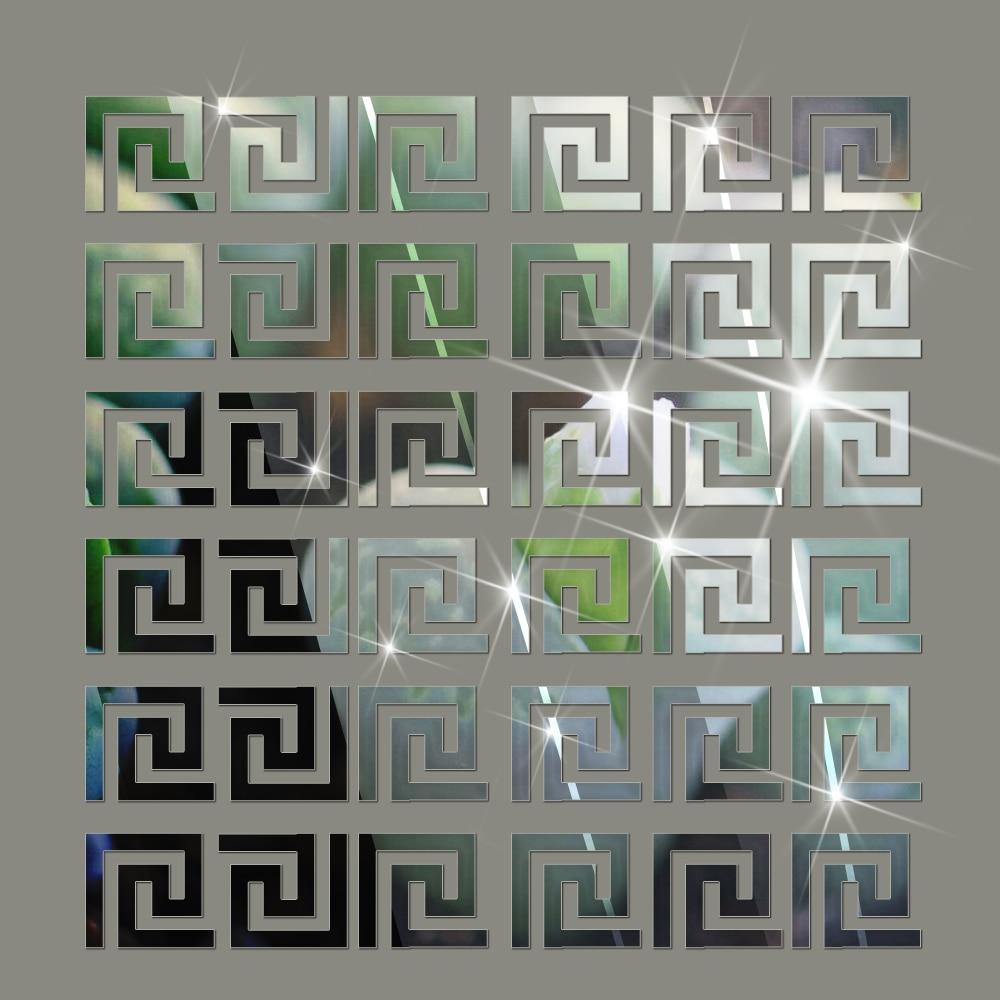 comprar funlife x cm x unids geomtrico moderno como un espejo reflectante muro fronterizo sticker para el dormitorio saln comedor
