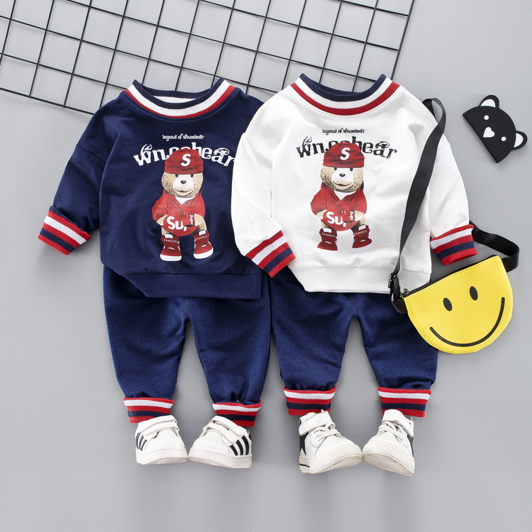 Toddler Baby Boy Clothes Set 2019 Newest Spring Cartoon Clothing For Toddler Bear T shirt Pants Outfit 1 2 3 4 Years in Clothing Sets from Mother Kids