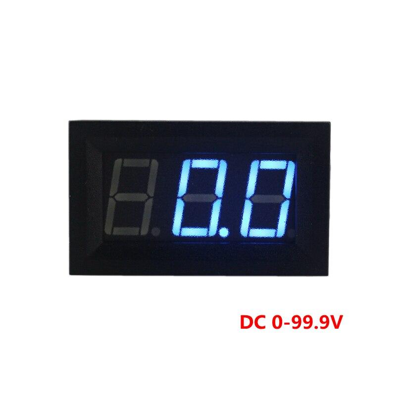 4 ШТ./ЛОТ Новое Обновление Мини DC 0-99.9 В DC Вольтметр Напряжения Panel Meter 3 В Питания Синий СВЕТОДИОДНЫЙ Дисплей