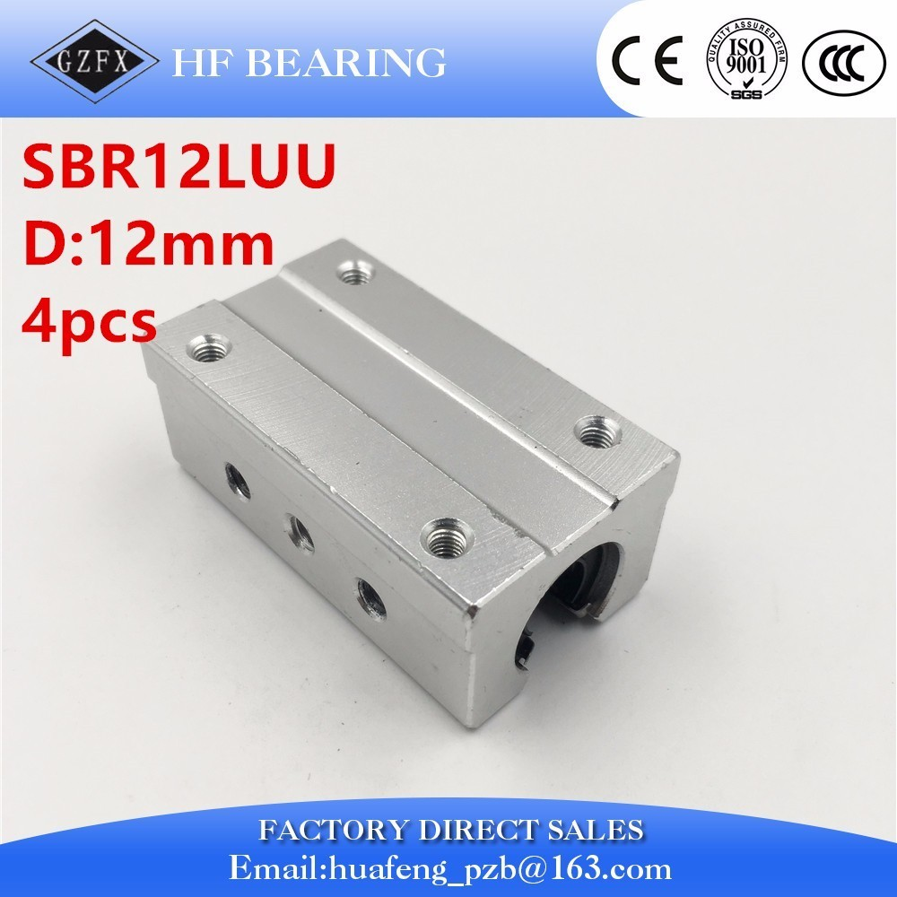 все цены на  Free Shipping SBR12LUU 12mm Linear Ball Bearing Block long type  CNC Router XYZ  онлайн