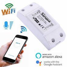 10 قطعة Sonoff الأساسية اللاسلكية Wifi التبديل ل أتمتة المنزل الذكي تتابع وحدة عن بعد تحكم 10A 90 250V ل IOS الروبوت