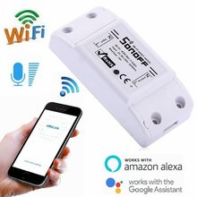 10PCS Sonoff Basic Wireless Wifi Switch For Smart Home Automation Relay Module Remote Controller 10A 90 250V For IOS Android