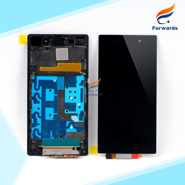 Substituição para sony xperia z1 l39 l39h c6902 c6903 lcd Exibição da tela com Digitador Touch Assembleia Quadro 1 peça livre grátis