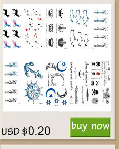 Rocooart RC2239 Body Art Water Transfer Fake Tattoo Sticker Temporary Tattoo Sticker Blue Black Wind Blown Feathers Taty Tatoo 5
