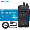 10 unids nktech v1 + vs baofeng bf-888s bf888s uhf 400-470 mhz 5 w 16ch jamón de dos vías radio walkie talkie y + mic + cable