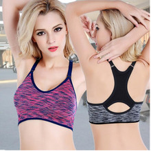 Sexy Women Sports Adjustable Strap Bra Shakeproof Seamless Padded Underwear Absorb Sweat Running Joggi Yoga Top Vest Slimming