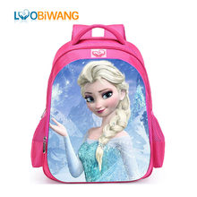 LUOBIWANG Famous Cartoon Movie Elsa Anna Schoolbag for Teenager Girls Lovely Backpack Primary School Student Mochila Infantil(China)