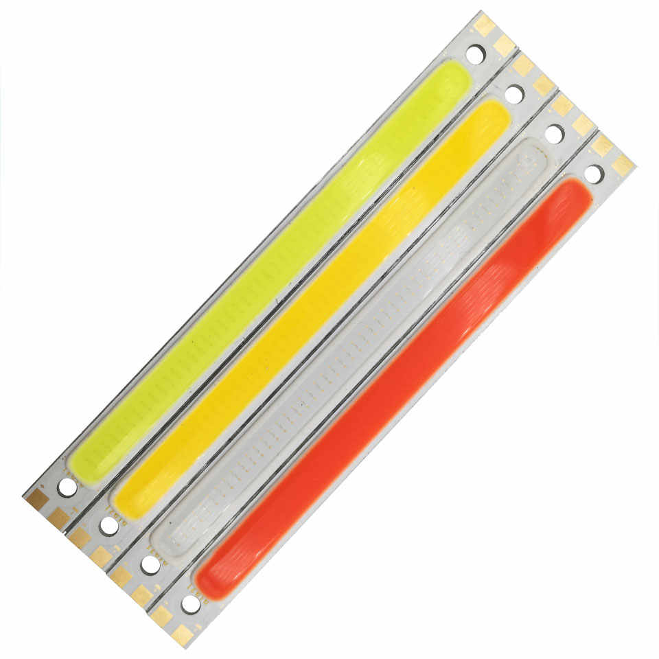 12V 10W LED Bar Light COB Bulb 1000LM LED Lamp 12cm COB Strip for DIY Warm Cool White Blue Red Green Color Car Drone Lighting