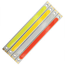 12V 10W LED Bar Light COB Bulb 1000LM LED Lamp 12cm COB Strip for DIY Warm Cool White Blue Red Green Color Car Drone Lighting(China)