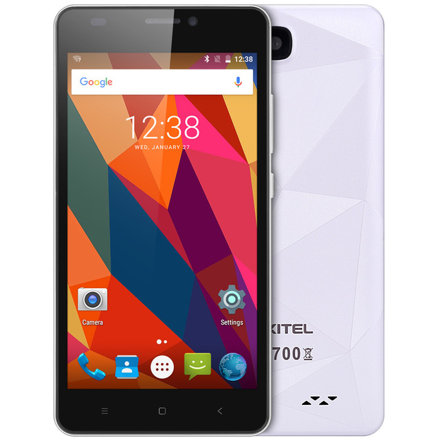 """Oukitel C3 Cellphone Android 6.0 MTK6580 Quad Core Smartphone 1G RAM 8G ROM 5.0"""" HD Screen 3G WCDMA Mobile Phone"""