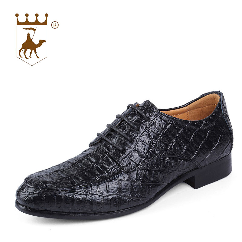 BACKCAMEL 2018 Spring Autumn Men Dress Shoes Leather Mens Business Casual Flat Leisure British Footwear Large Size 36-50
