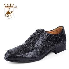hot deal buy backcamel 2018 spring autumn men dress shoes leather men's business casual shoes flat leisure british footwear large size 36-50