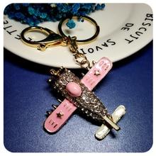 Hot Sale! Cool Design Battleplane Style Handbag Charm Accessory Fantastic Key Chain Ornament Gift