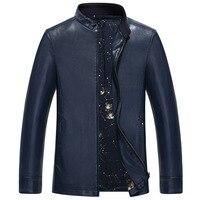 Men S Winter Leather Jacket Middle Aged Men S Fashion High Grade Short Style Slim Fit