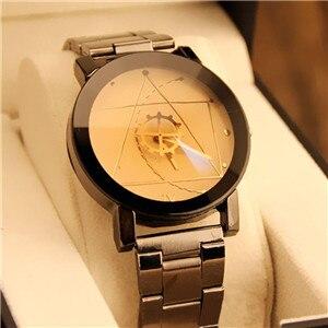 Splendid Fas Men's Crystal Stainless Steel Analog Quartz Watch Bracelet Business Temperament Casual Watch watch crystal