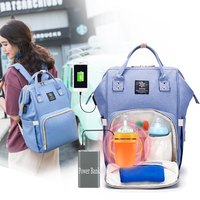 Women Travel Organizer Baby Wet diapers USB Charging Insulation Bottle Backpack Waterproof Anti theft Mother to child Bag