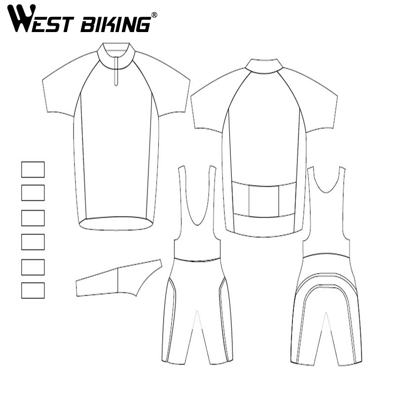 WEST BIKING Custom Made Design Free Bike Racing Team Road Biker Cycling Short Sleeve Jersey Padded Shorts Bib Shorts Suit Set free designs diy custom cycling jersey short sleeve and tight bib shorts combo cycling sets bike clothing for man women child