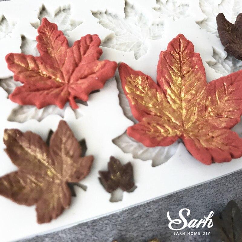 Akçaağaç yarpağı fondantdan hazırlanan tort kalıpları, - Mətbəx, yemək otağı və barı - Fotoqrafiya 2
