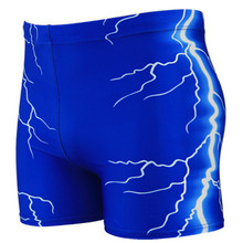 Hot 2020 Outdoor Summer Men #8217 s boxer swimming trunks Increasing fertilizer swimwear trunks male Tall waist lightning Shorts cheap NoEnName_Null Polyester Print LK8787 Fits true to size take your normal size Quick Dry