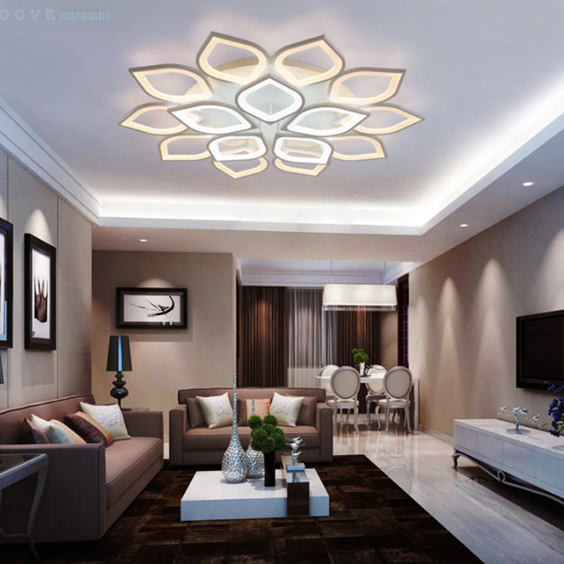 LED ceiling lights for living room bedroom decoration lighting fixtures AC90~260V dimming Lampara de techo para sala de estar