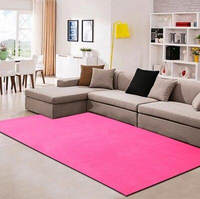 Burgundy Rug Soild C Fleece Carpet Soft Meomory Foam Rugs Set Modern Crawling Durable Non Slip Area For In From Home Garden On