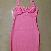 Женские брекеты с рюшами, латексные платья розового цвета