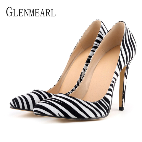 Women Pumps Leopard Shoes High Heels Sexy Pointed Toes Wedding Shoes Woman Stiletto Heel Office Lady Dress Shoes Casual Evening Lahore