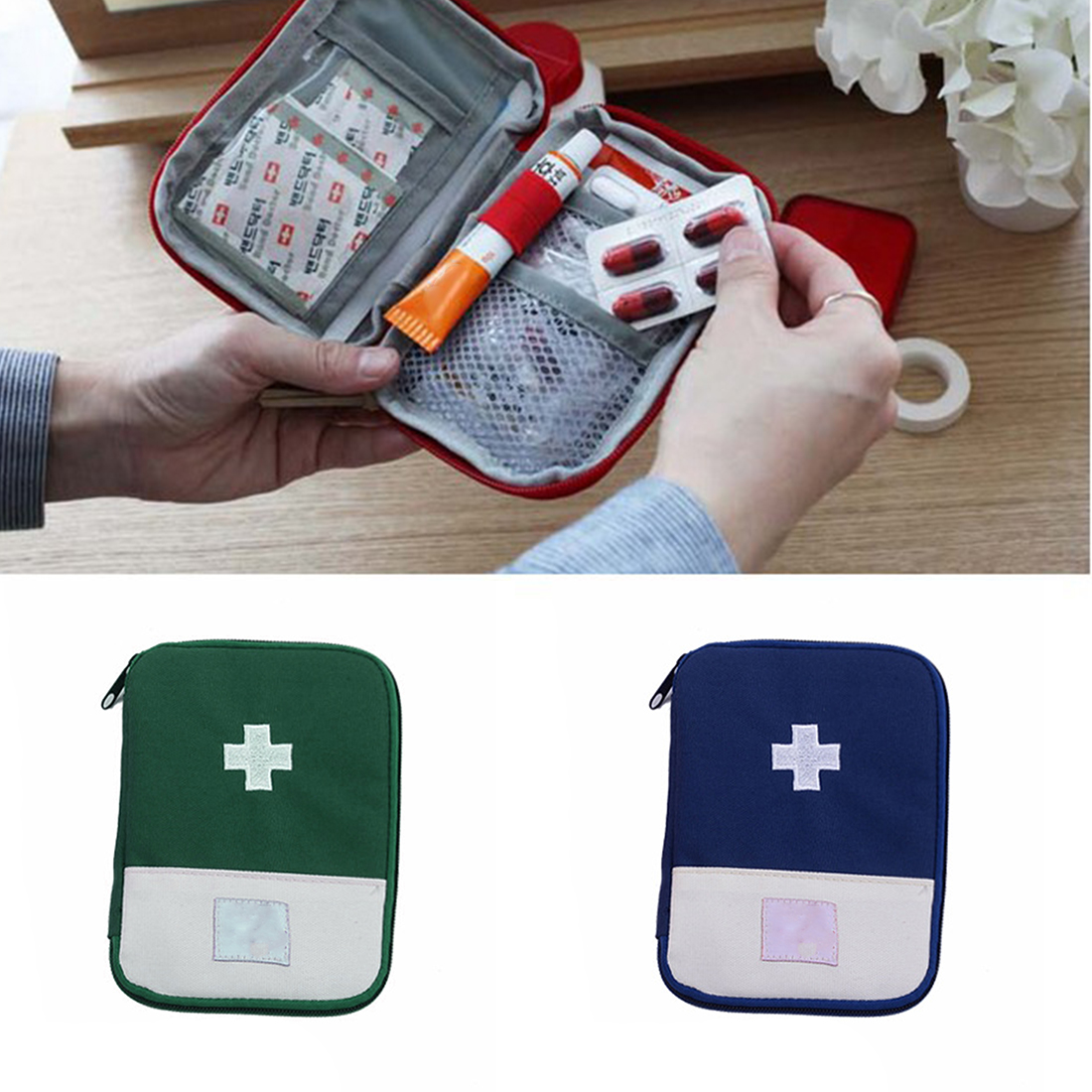 New EDC Outdoor First Aid Kit Bag Portable Travel Medicine Package Emergency Kit Bags Small Medicine Divider Storage Organizer