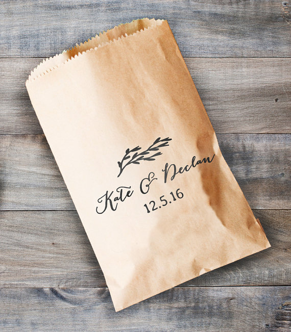 Custom personalized cake wedding bridal baby shower kraft paper custom personalized cake wedding bridal baby shower kraft paper bakery cookie desserts gifts favors bags popcorn bag stamp in gift bags wrapping supplies negle Images