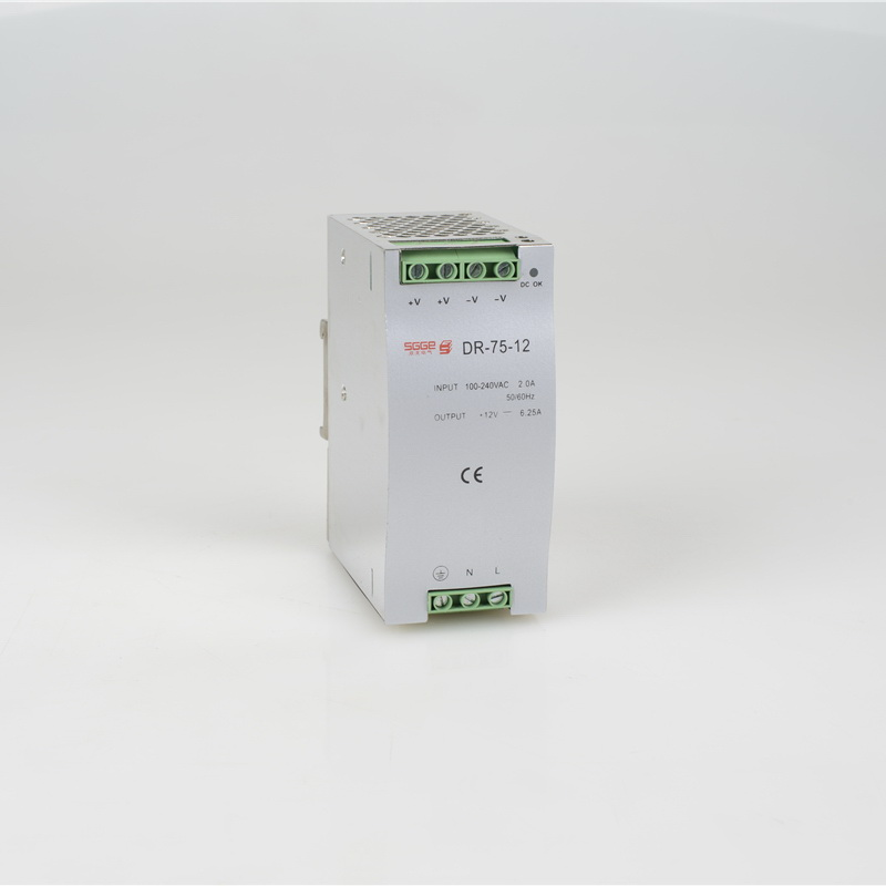 цена на DR-75-12 75W 12V 6.3A ac dc converter SMPS Din rail Single Output Switching power supply