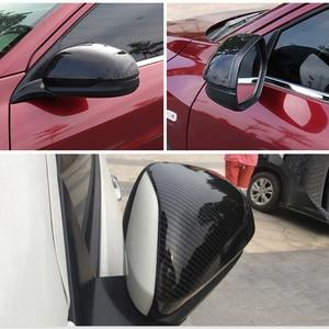 Image 5 - 1 คู่รถด้านข้างกระจกฝาครอบ Fit Trim Fit สำหรับ HR V VEZEL กระจกมองหลังคาร์บอนไฟเบอร์รูปแบบพลาสติก ABS