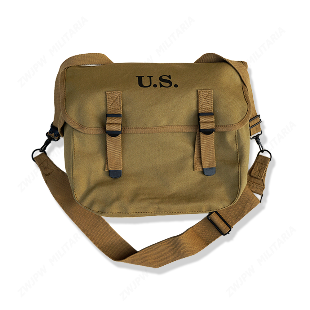 WWII WW2 US Army M1936 Musette Field M36 Backpack Haversack Bag Khaki Hiking HIGH QUALITY REPLICA US/107107 wwii ww2 japanese infantry officer leather belt with sword chain high quality jp 45421