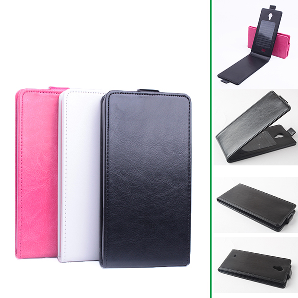 Luxury Flip Leather Cover Case for Fly IQ4416 Era Life 5 Vertical Back Cover Magnetic Phone Case for Fly IQ 4416 Open Up-Down