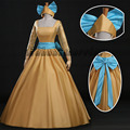 Princess Yellow Dress Anastasia cosplay Costume  for women adult Custom made