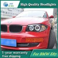 JGD Фирменная Новинка стиль для BMW E87 116i 118i 120i 125i светодиодные фары 2004 2011 фар би ксеноновые светодиодные лампы ДРЛ Освещение